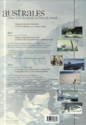Australes ; deux récits du monde au bout du monde ; voyage aux îles de la Désolation ; la lune est blanche ; coffret - 4ème de couverture - Format classique