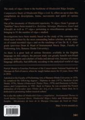 Comparative study of hindustani raga-s t.1 - 4ème de couverture - Format classique