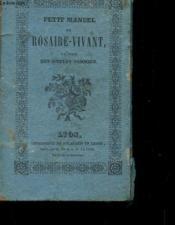 Petit Manuel Du Rosaire-Vivant A L'Usage Des Simples Associes - Couverture - Format classique