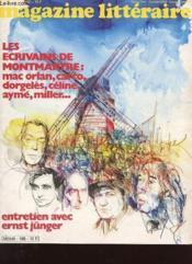 Magazine Litteraire N°185 - Les Ecrivains De Mont Martre - Couverture - Format classique