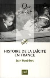 Histoire de la laïcité en France (6e édition) - Couverture - Format classique