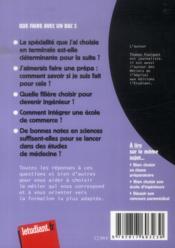 Que faire avec un bac S (15e édition) - 4ème de couverture - Format classique