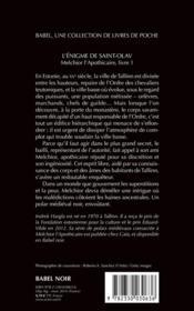 Melchior l'apothicaire T.1 ; l'énigme de Saint-Olav - 4ème de couverture - Format classique