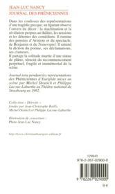 Journal des Phéniciennes - 4ème de couverture - Format classique