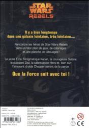 Disney ; Star Wars rebels ; bloc de jeux avec tattoos ! - 4ème de couverture - Format classique