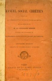 Manuel Social Chretien - Couverture - Format classique