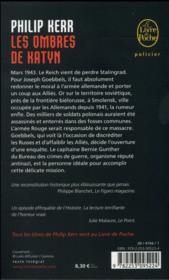 Les ombres de Katyn - 4ème de couverture - Format classique