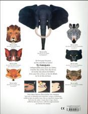 Qui se cache ? 15 masques prédécoupés - 4ème de couverture - Format classique