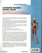 Locomotion humaine : marché, course - 4ème de couverture - Format classique