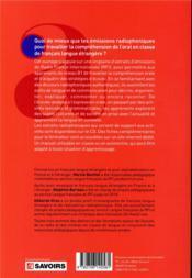Travailler l'oral avec la radio ; B1 - 4ème de couverture - Format classique
