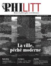 Philitt N.9 ; la ville, péché moderne - Couverture - Format classique