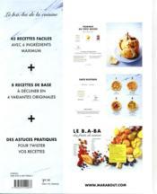 Le b.a-ba de la cuisine ; desserts pour toutes les envies - 4ème de couverture - Format classique
