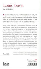 Louis Jouvet - 4ème de couverture - Format classique