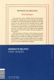 Saint Jacques - 4ème de couverture - Format classique