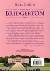 La chronique des Bridgerton ; INTEGRALE T.3 ET T.4 - 4ème de couverture - Format classique