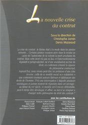 Nouvelle crise contrat - 4ème de couverture - Format classique