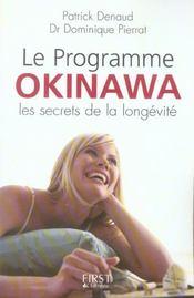 Le Programme Okinawa, Les Secrets De La Longevite - Intérieur - Format classique