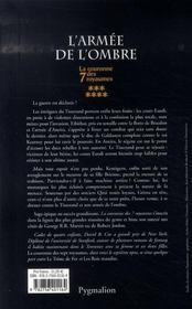 La couronne des 7 royaumes t.7 ; l'armée de l'ombre - 4ème de couverture - Format classique
