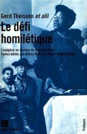Defi Le Homiletique - Couverture - Format classique