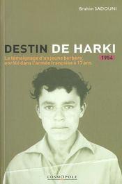 Destin De Harki - Intérieur - Format classique