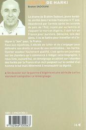 Destin De Harki - 4ème de couverture - Format classique