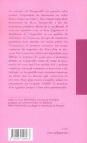 La canonisation libérale de tocqueville - 4ème de couverture - Format classique