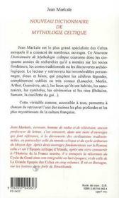 Nouveau dictionnaire de mythologie celtique - 4ème de couverture - Format classique