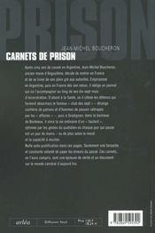 Carnets De Prison (Mars 1997-Juillet 1998) - 4ème de couverture - Format classique