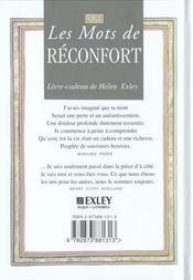 Paroles de reconfort - 4ème de couverture - Format classique