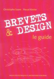 Brevets et design : le guide - Intérieur - Format classique