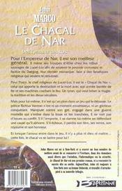 Des tyrans et des rois t.1 ; le chacal de Nar - 4ème de couverture - Format classique