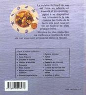 Recettes du bord de mer - 4ème de couverture - Format classique