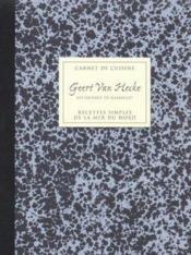 Carnet de cuisine, recettes simples de la mer du nord, vol. 1 - Couverture - Format classique