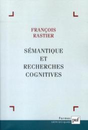 Sémantique et recherches cognitives (3e édition) - Couverture - Format classique