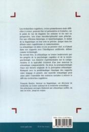 Sémantique et recherches cognitives (3e édition) - 4ème de couverture - Format classique