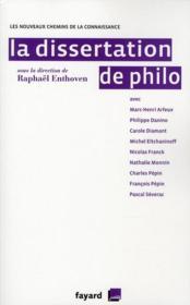 La dissertation de philo - Couverture - Format classique
