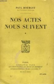 Nos Actes Nous Suivent - Tome 2 - Couverture - Format classique