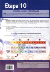 Etapa 10, nivel b2.1 ; libro del profesor - 4ème de couverture - Format classique