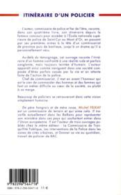 Itinéraire d'un policier - 4ème de couverture - Format classique