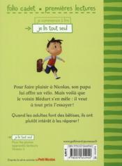 Le petit Nicolas T.4 ; Papa m'offre un vélo - 4ème de couverture - Format classique