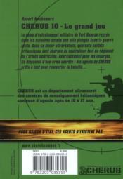 Cherub mission T.10 ; le grand jeu - 4ème de couverture - Format classique