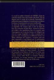 Approches de la pensée des Lumières - 4ème de couverture - Format classique