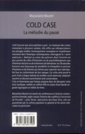 Cold case - 4ème de couverture - Format classique