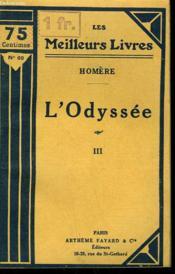 L'Odyssee Tome 3. Collection : Les Meilleurs Livres N° 66. - Couverture - Format classique