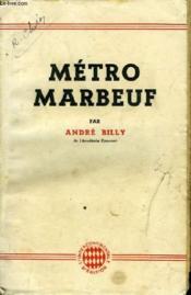 Metro Marbeuf - Couverture - Format classique