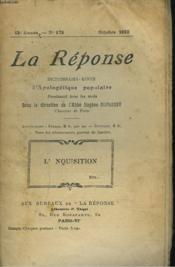 La Reponse. Revue Mensuelle D'Apologetique Populaire. N°178, Octobre 1922. L'Inquisition. - Couverture - Format classique
