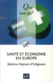 Santé et économie en Europe (7e. édition) - Couverture - Format classique