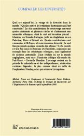 Comparer les diversités ; groupes de recherche sur l'eugénisme et le racisme - 4ème de couverture - Format classique