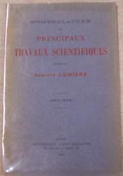 Nomenclature des principaux travaux scientifiques publiés par Auguste Lumière - 1887-1935. - Couverture - Format classique