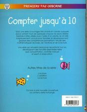 Compter Jusqu'A 10 - 4ème de couverture - Format classique